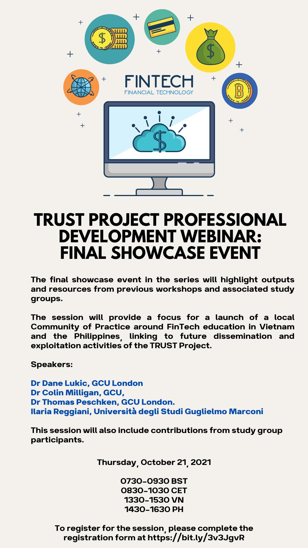 TRUST Project Professional Development Webinar: Final Showcase Event